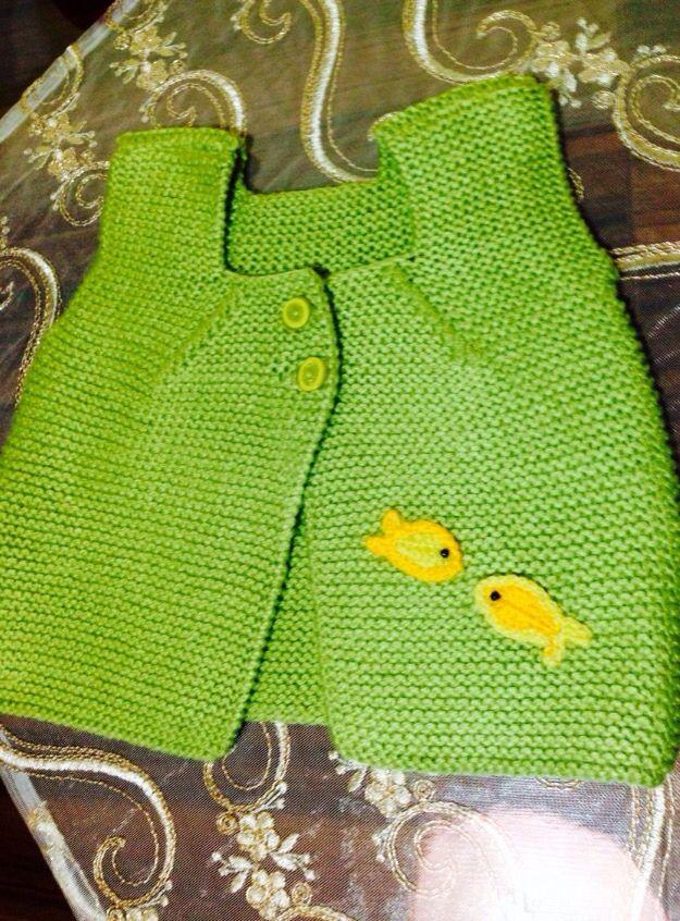 Sarı balıklı yelek
