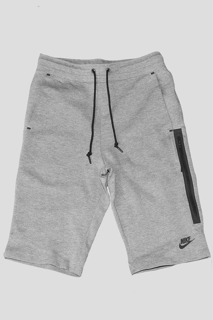 The Nike Tech Fleece Women's Shorts are made with a soft cotton blend and an oversized, bonded zip pocket for a comfortable fit and convenient storage. - Product Code: 708182-091 - Color: Carbon Heath
