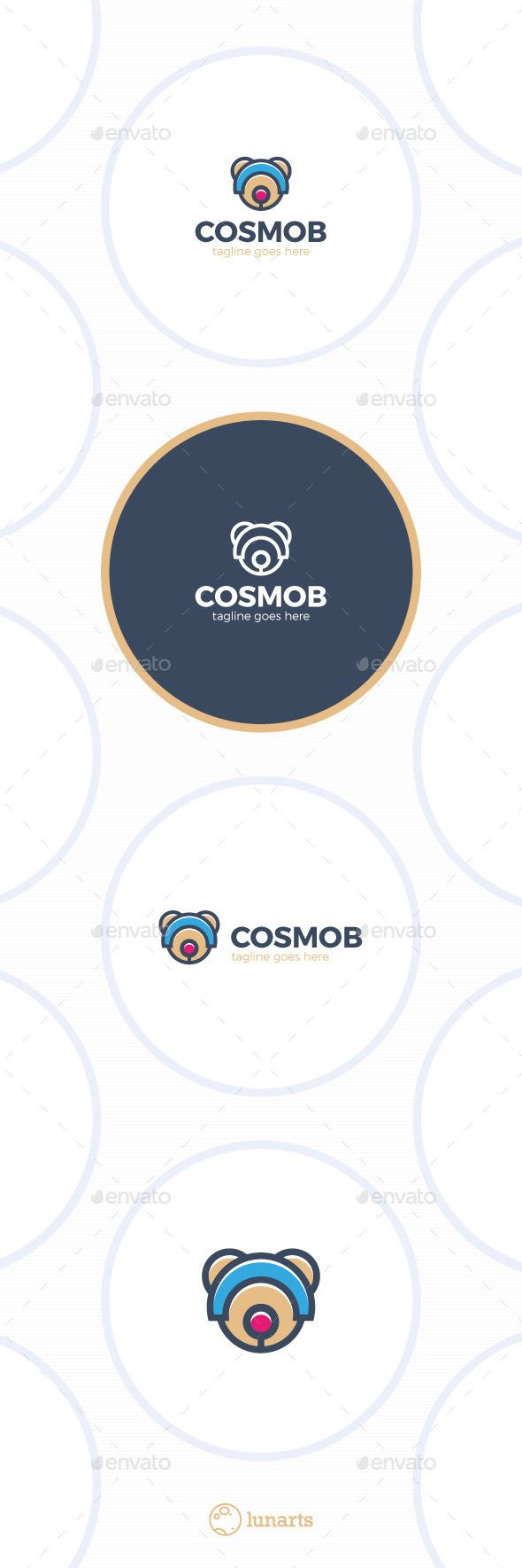 Space Bear Logo  Cosmo — Vector EPS #color #app • Available here → https://graphicriver.net/item/space-bear-logo-cosmo/11909638?ref=pxcr