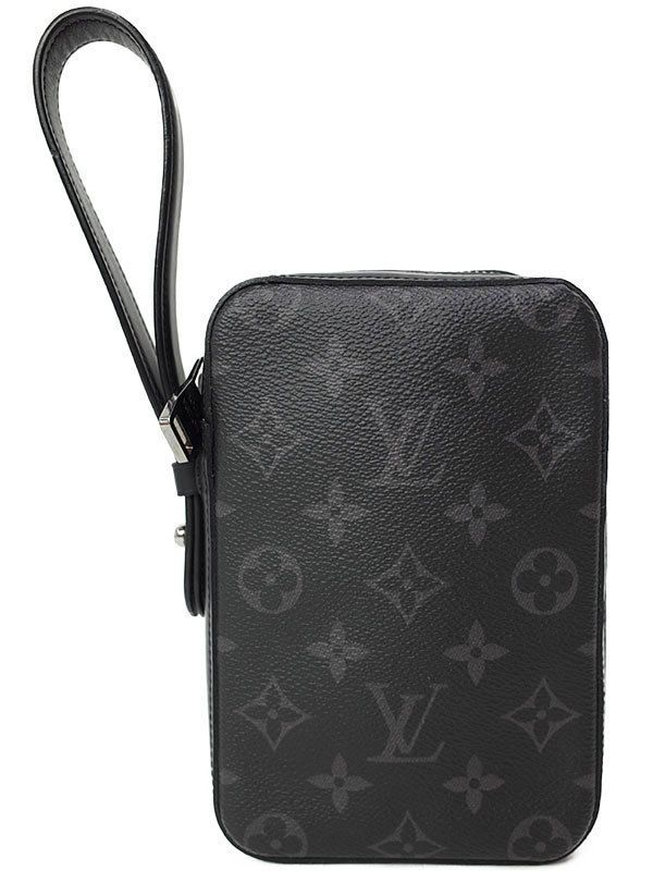ee900c5f1a72 eBay  Sponsored Louis Vuitton M61872 Box Clutch Bag Monogram Eclipse Canvas  Mens Excellent  1332