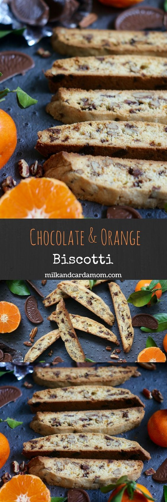 Crunchy and buttery orange and chocolate biscotti - perfect with your morning coffee! Super easy recipe!
