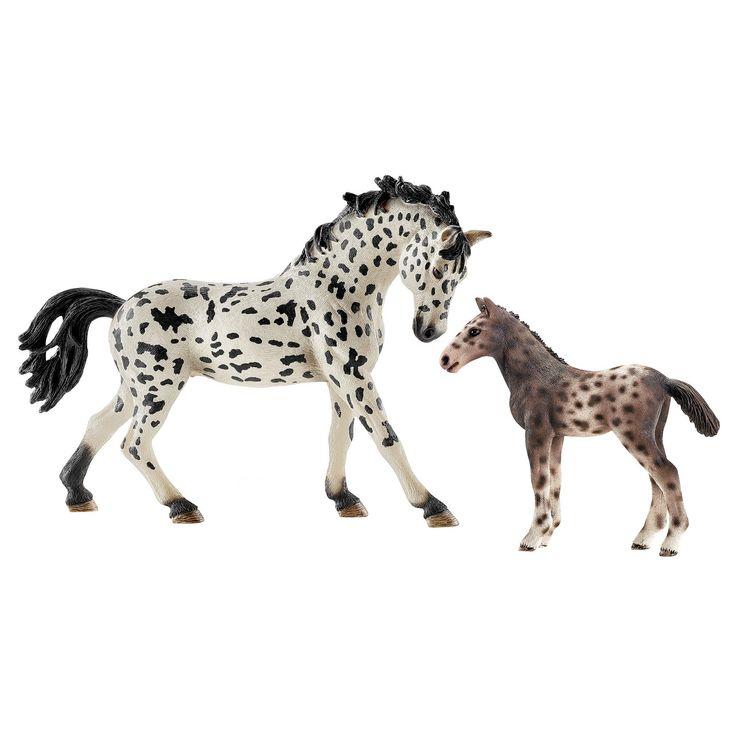 Schleich Horse Club Knabstrupper Mare and Foal (2 pack),