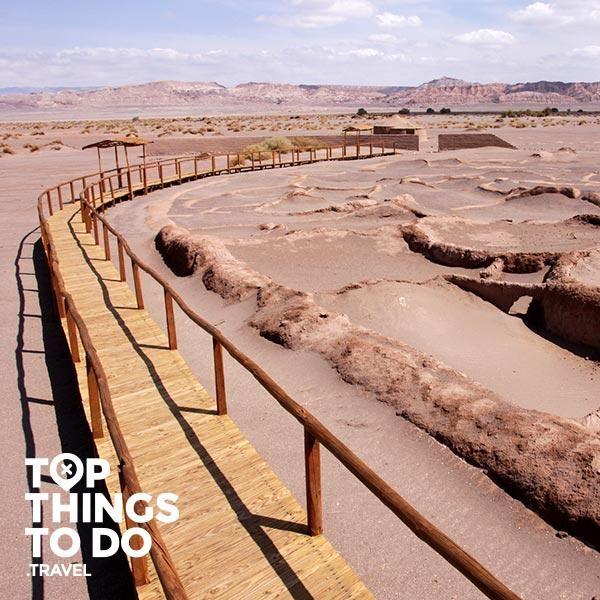 Aldea de Tulor - San Pedro de Atacama - La aldea de Tulor es el vestigio de las primeras civilizaciones que se asentaron en el desierto de Atacama en presencia del Volcán Licancabur