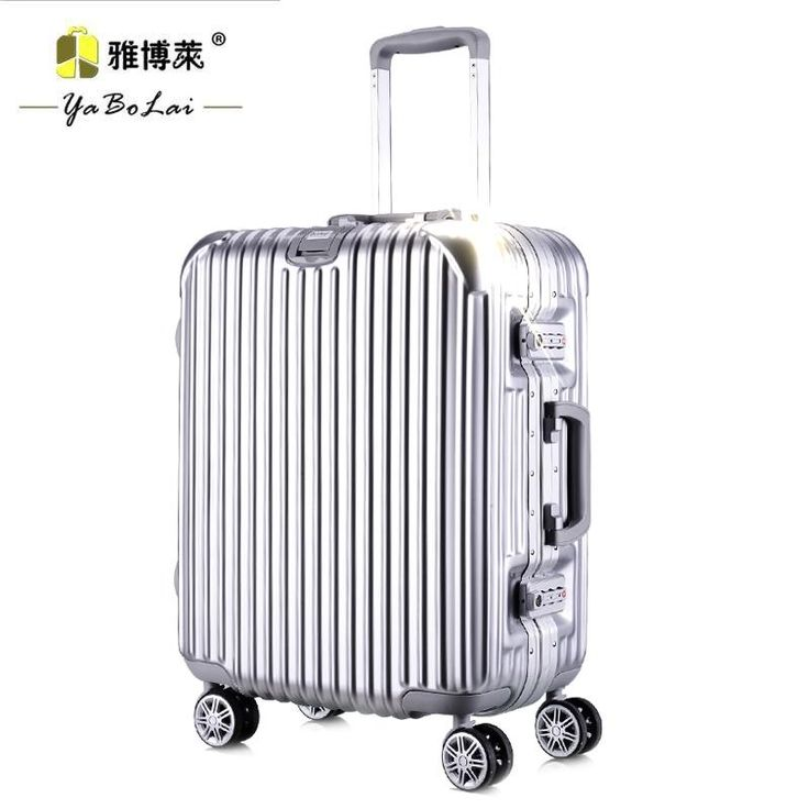 only $100 Aluminum frame Trolley Wheels male lady luggage suitcase luggage board chassis password 20-inch 24-inch business - BuyWithAgents http://www.buywithagents.com/products/42857435188