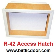 "Battic Door Energy Conservation Products presents E-Z Hatch R-42 Attic Access Door is an energy-efficient attic access hatch (scuttle door). It is R-42, triple gasketed, pre-finished, and provides a 22x30"" access opening. It is an energy efficient alternative to energy wasting attic pull down ladders, and exceeds all Code requirements. Deluxe version with a 4-point locking latch and handles also available. Visit Booth # N-5640 at the PCBC 2012 Homebuilding Tradeshow. #pcbcshow www.pcbc.com"