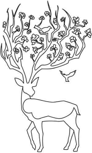Antlers? Branches? Whatever they are, they'll look awesome on bags, journals, and more. With just a few colors, it's easy to adapt! Downloads as a PDF. Use pattern transfer paper to trace design for hand-stitching.