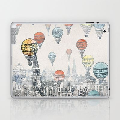 Perhaps a daily reminder of my travel goals :) Voyages over Edinburgh Laptop & iPad Skin by David Fleck - $25.00