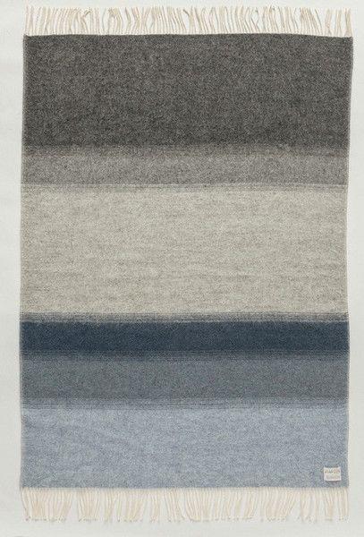 Shades Landscape Wool Blanket - Grey/Blue (1052) - Wool Blanket - Shop Icelandic Products