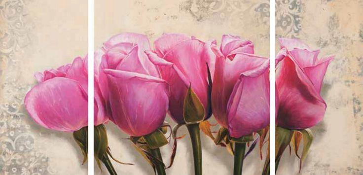 Das Bild (Triptychon) von ELENA DOLCI »Royal Roses« ist ein Meisterwerk floraler Malerei. Gibt dem Raum eine besondere Note.  Artikeldetails:  Mit Aufhängevorrichtung, Auf MDF Platte aufkaschiert, Maße (B/H): 2x 25/50 cm, 1x 50/50 cm,  Material/Qualität:  MDF 12 mm Platte,  ...