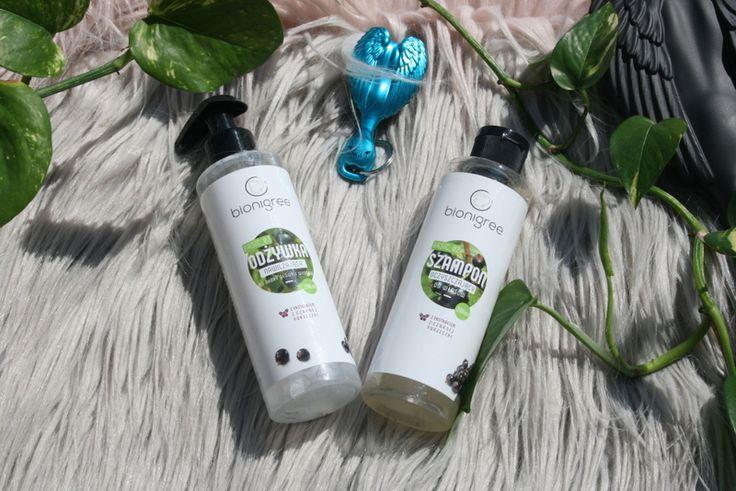 Naturalny szampon i odżywka do włosów i skóry głowy BIONIGREE z wyciągiem z czarnej porzeczki :)