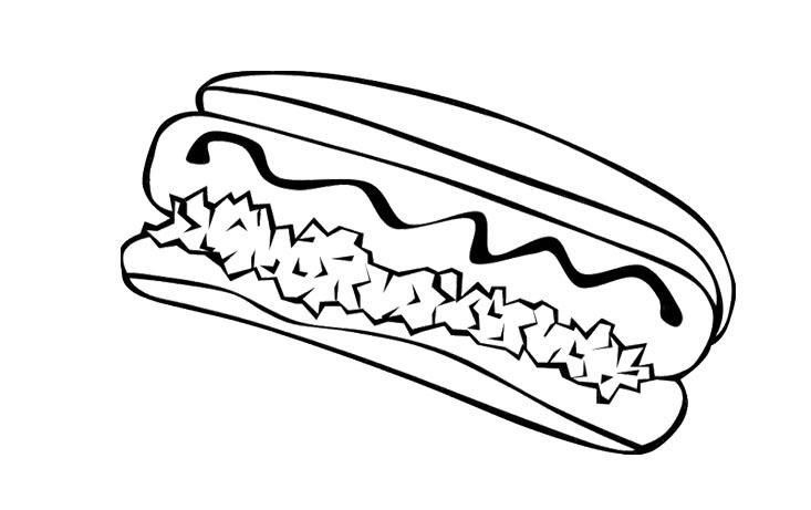 Food Coloring Pages Hotdog Food Coloring Pages Coloring Pages Dog Coloring Page