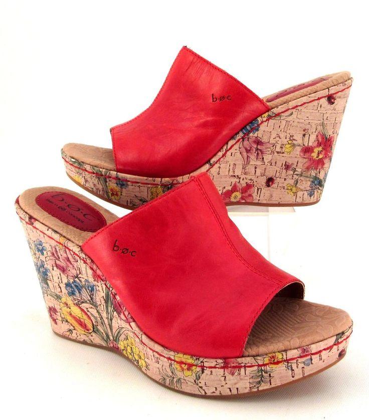 #BOC #Born Concept Red Leather #Wedge #Sandals Floral Lady Bug Print Heel - 44 Best Women's Sandals Images On Pinterest Women's Sandals