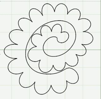 It is a picture of Nerdy Felt Flower Template Printable