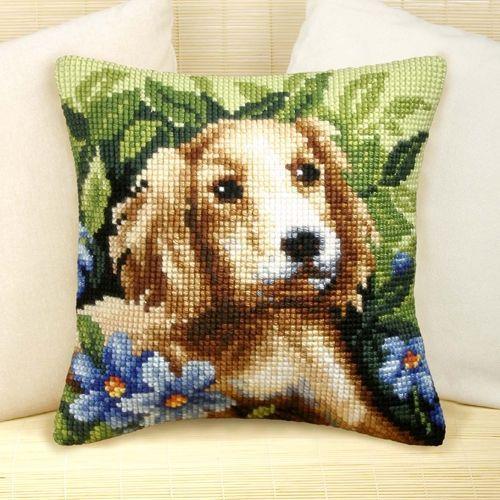 Cross-stitch cushion Orchidea 9049 - Kadife Kraft
