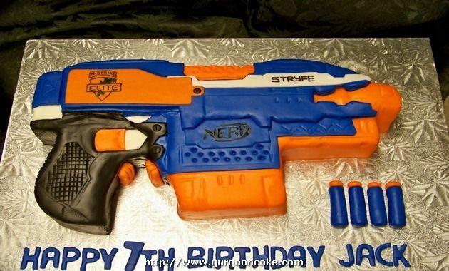 Nerf Gun Birthday Cake Picture
