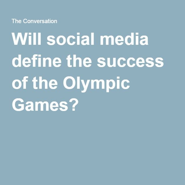 Will social media define the success of the Olympic Games?