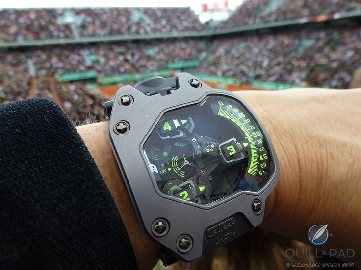 The Ur-110 TTH on your author's wrist at the 2014 French Open tennis championship at Roland Garros