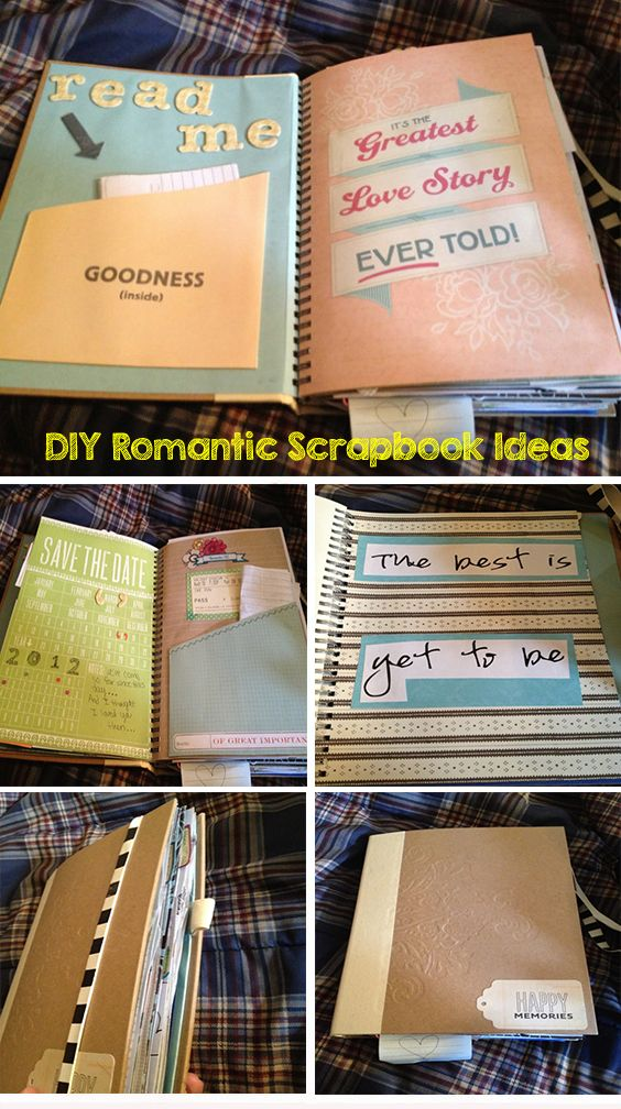 The Story Of Us: DIY Romantic Scrapbook Ideas