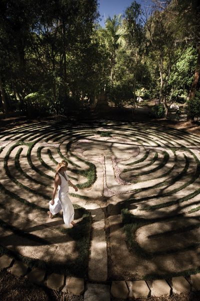 The Crystal Castle Labyrinth >>> Gypsy Whim Inspiration <<< We recently walked this labyrinth, it was so calming.