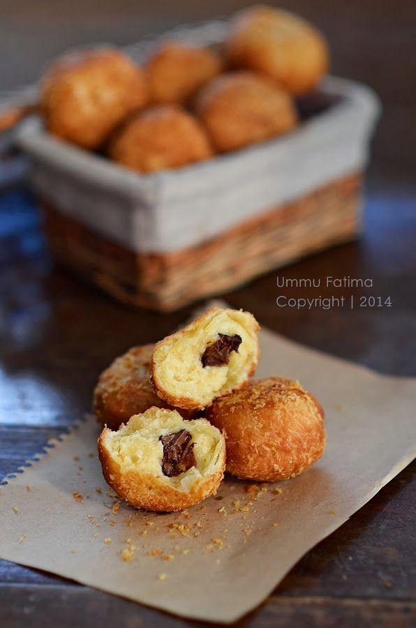 Simply Cooking and Baking...: Roti Goreng Isi Coklat