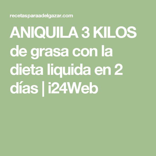 ANIQUILA 3 KILOS de grasa con la dieta liquida en 2 días   i24Web