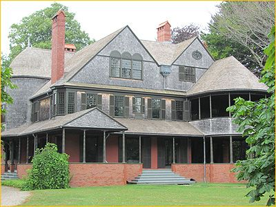 Isaac Bell mansion, Newport, Rhode Island was built in 1883 for Mr. Bell, a wealthy cotton broker and investor.