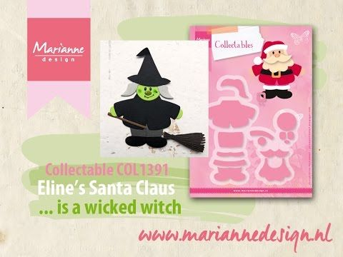 How to make a Witch of the COL1391 Santa Claus by Eline - YouTube