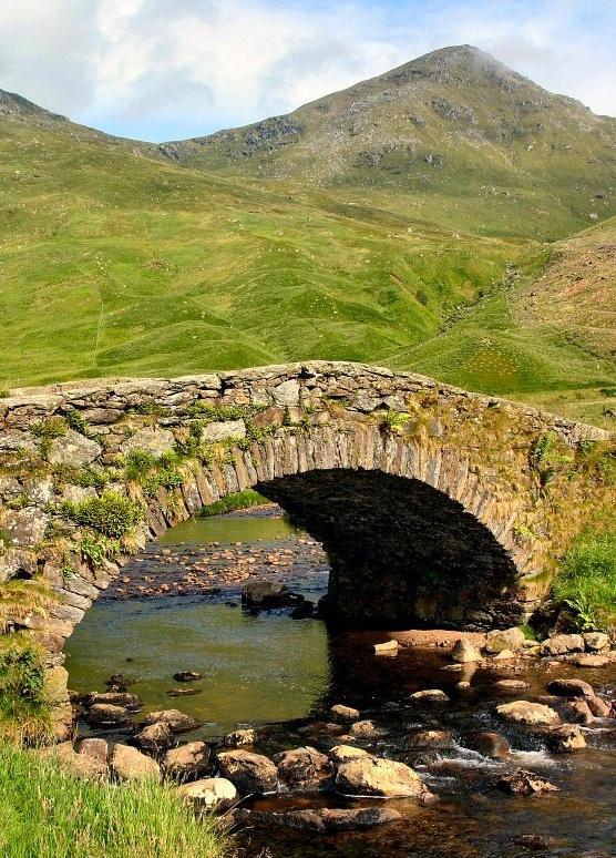Quaint bridge - Oban. Scotland.