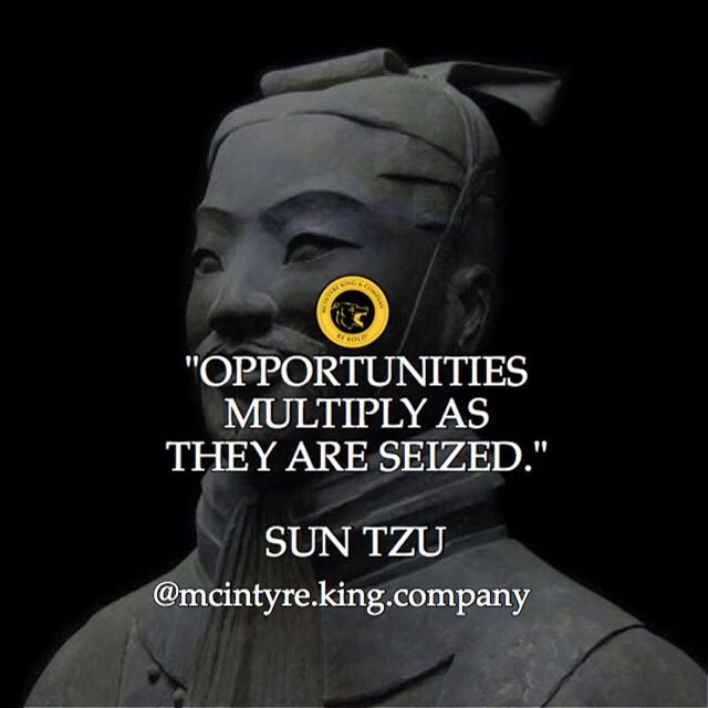 "It is simply an amazing phenomenon in life that once you begin to take calculated risks, you suddenly being to see multitudes of other opportunities open up. This wisdom is precisely what the famous Chinese general and author of ""The Art of War"" Sun Tzu (544–496 BC) tells us with his words above.  While he used this phrase in reference to military campaigns, the application to all areas of life is easily discerned.  I will give a personal example about the time that I first read Benjamin…"
