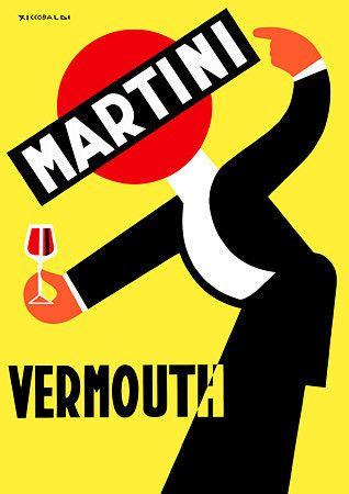 Vintage Italian Posters ~ #illustrator #Italian #vintage #posters ~ Martini Vermouth 1942