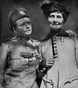 Maria Bochkareva and Emmeline Pankhurst | Maria Leontievna Bochkareva, founder of the 1st Russian Women's Battalion of Death (White Army, 1916-1917)