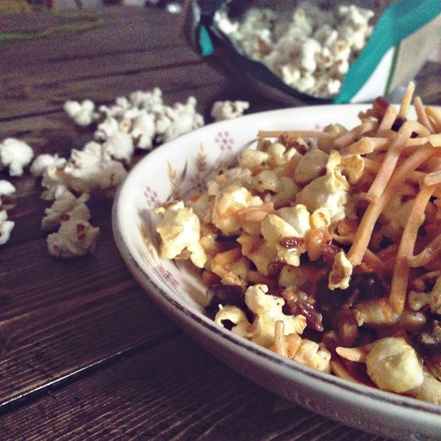 Popcorn salad is a unique and flavorful (and weird!) salad that uses mayo, bacon, cheese, carrots, chives and popcorn. Crazy sounding, but really good!