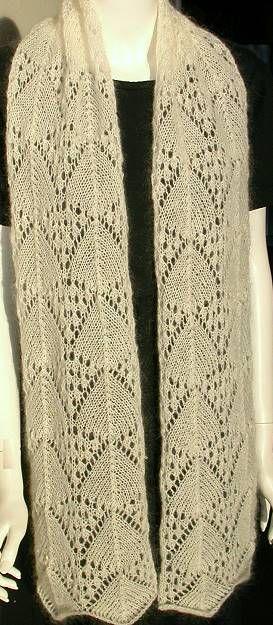 Crystal Palace Yarns - free knit pattern Lace Scarf ...