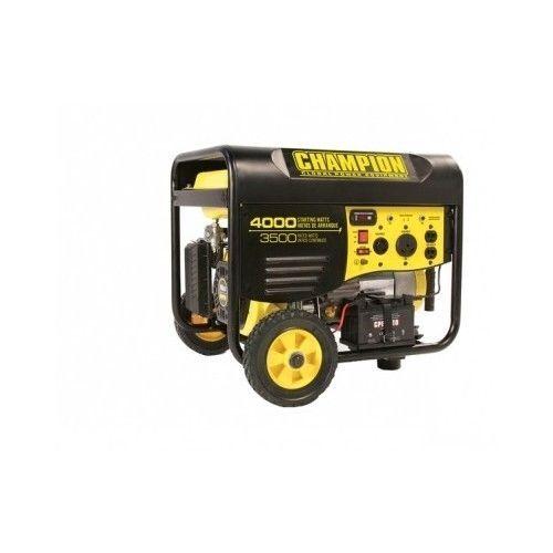 Portable Power Generator 3500 Watt Remote Electric Start Emergency Gas Home Rv  #Champion