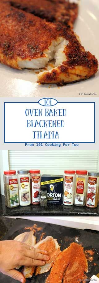 Oven Baked Blacken Tilapia from 101 Cooking for Two