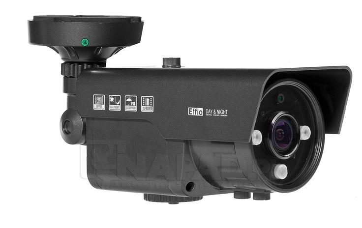 Kamera z promiennikiem podczerwieni AT VIG600E. Przetwornik 1/3 SONY Effio 650/700TVL Regulowany obiektyw 2.8-12mm Funkcje: ATW AWB BLC AGC AES ATR NR HLC.      Kamera VI600E z Sony Effio i menu OSD przeznaczona jest do całodobowego monitoringu obiektów. Oświetlacz podczerwieni zapewnia widoczność w porze nocnej, a regulowany obiektyw dostosuje pole i zakres rejestrowanego obrazu. Kamera ATVI600E posiada dużą odporność na poziomie klasy szczelności IP66.   Zobacz więcej kamer…
