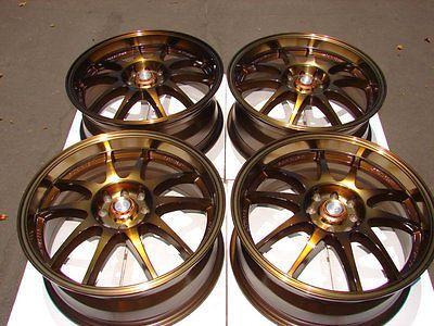 16 4x100 4x108 Bronze Fits Neon Civic Cabrio Jetta Golf Scion Xa Xb 4 Lug Rims