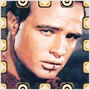 Marlon Brando - Quadrinhos confeccionados em Azulejo no tamanho 15x15 cm.Tem um ganchinho no verso para fixar na parede. Inspirados em atores de cinema. Para entrar em contato conosco, acesse: www.babadocerto.com.br