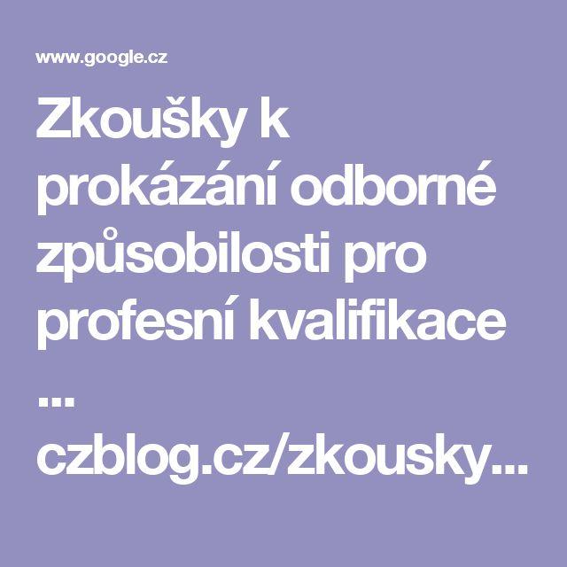 Zkoušky k prokázání odborné způsobilosti pro profesní kvalifikace ...  czblog.cz/zkousky-k-prokazani-odborne-zpusobilosti-pro-dilci-kvalifikace-strazny-de...  21. 6. 2010 - Potom musíte vykonat zkoušku profesní kvalifikace, jinak vás musí váš zaměstnavatel propustit! ... Kód profesní kvalifikace strážný je 68-008-E.