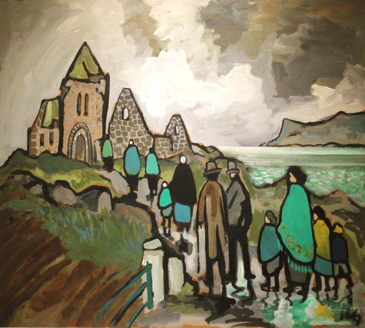 Markey Robinson (Ireland 1918-1999) Bonamargy Friary, County Antrim gouache on board 81 x 100 cm