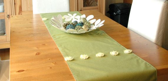 Table runner designer fabric with lining 72 X 17 by CreationsNikki, $45.00
