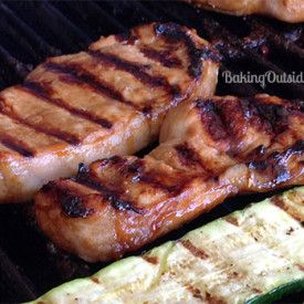 This recipe for grilled Asian Marinated Pork Chops is easy and delicious. -- A little something different for grilling out.