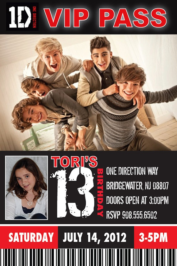 Printable One Direction Birthday Invitation Orderecigsjuicefo
