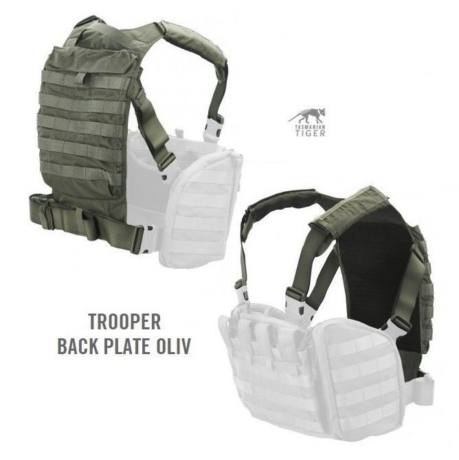 Tasmanian Tiger Trooper back plate olive - Gilet tattici - Equipment