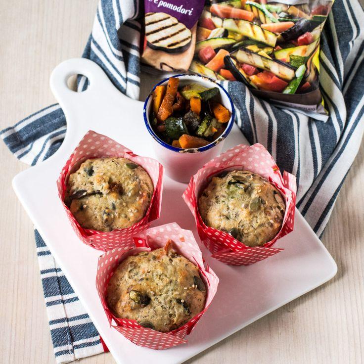Muffin salati con farina integrale e verdure | Bonduelle