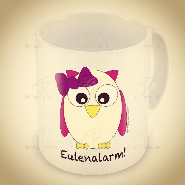 #eule n #alarm #kaffee oder #tee oder #heiße #Milch mit #honig #Tasse denn auch #jede #Eule #braucht mal eine #pause #lustige #best #cup #tierfreund #tier #tierlieb #fan #fans - diese Tasse gibt's hier: http://diemojaenchen.de/produkt/eulenalarm-tasse/  # #