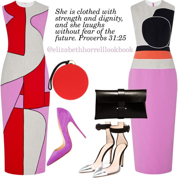 Liz by elizabethhorrell on Polyvore featuring Roksanda, Gianvito Rossi, Christian Louboutin, Jil Sander and Olympia Le-Tan