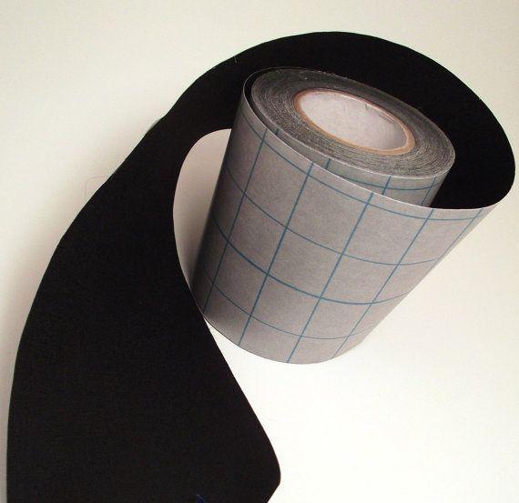 1' Black Adhesive Fabric Book Cloth Tape Bookbinding