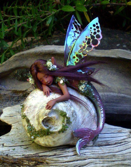 Little Fairy mermaid...#fantasy # faerie #art