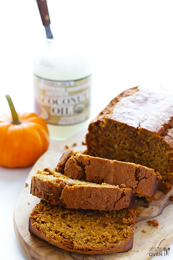 Coconut Oil Pumpkin Bread -- my all-time favorite recipe for this seasonal bread! | gimmesomeoven.com